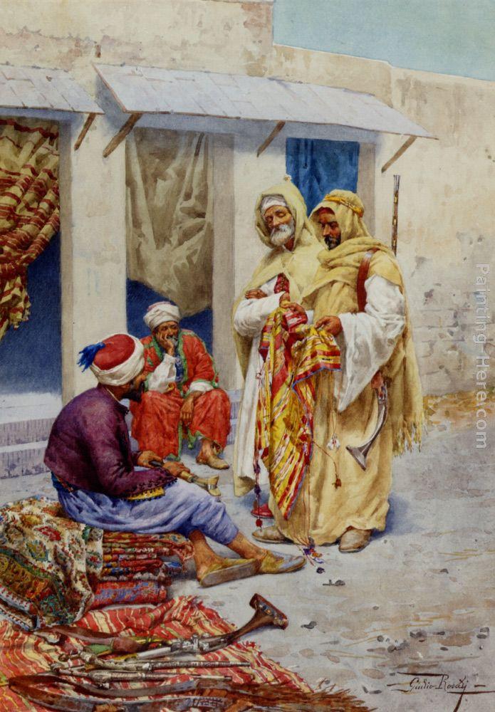 Giulio Rosati Carpet Seller Painting Anysize 50 Off