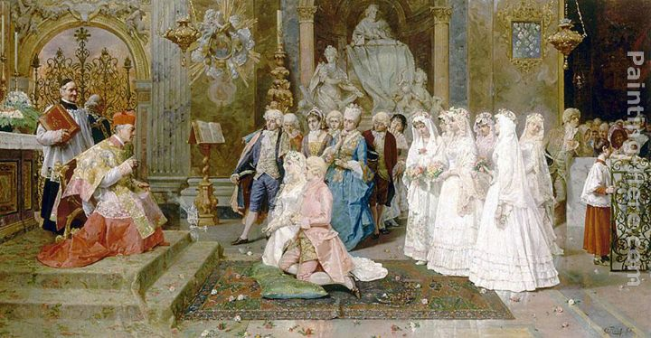 Giulio Rosati The Wedding Art Painting
