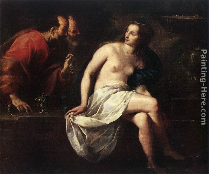 Susanna and the Elders painting - Guido Cagnacci Susanna and the Elders art painting