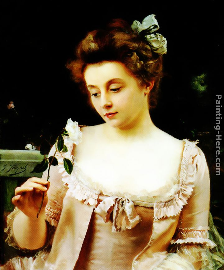 A Rare Beauty painting - Gustave Jean Jacquet A Rare Beauty art painting