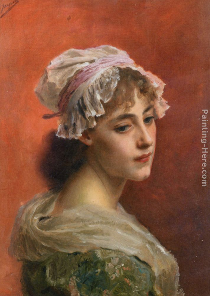 Lost In Thought painting - Gustave Jean Jacquet Lost In Thought art painting