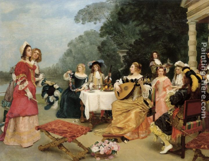 Gustave Jean Jacquet The Recital painting anysize 50% off - The ...