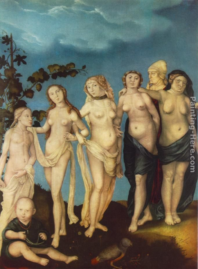 The Seven Ages of Woman painting - Hans Baldung The Seven Ages of Woman art painting