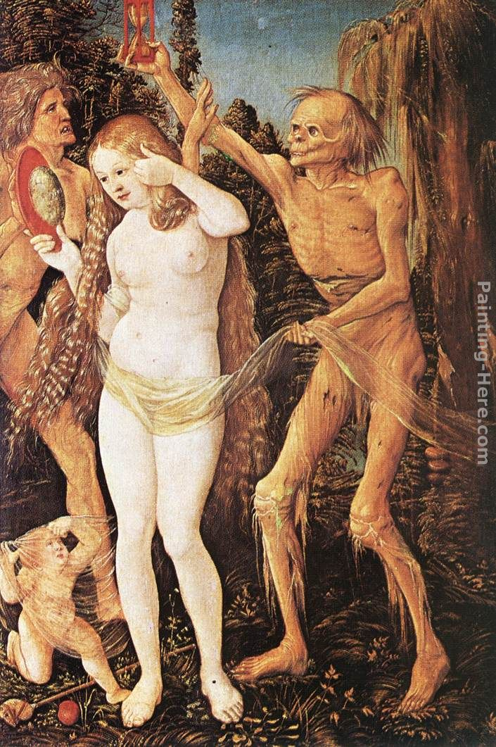Three Ages of the Woman and the Death painting - Hans Baldung Three Ages of the Woman and the Death art painting