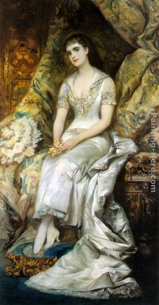An Elegant Lady painting - Hans Makart An Elegant Lady art painting