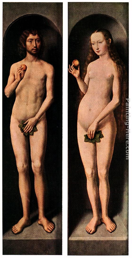Adam and Eve painting - Hans Memling Adam and Eve art painting