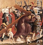Christ Carrying the Cross painting - Hans Multscher Christ Carrying the Cross art painting