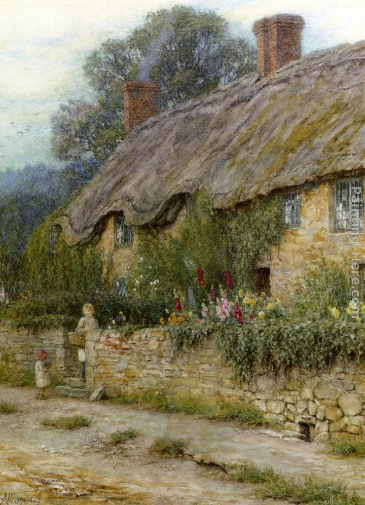 A Mother And Child Entering A Cottage painting - Helen Mary Elizabeth Allingham A Mother And Child Entering A Cottage art painting