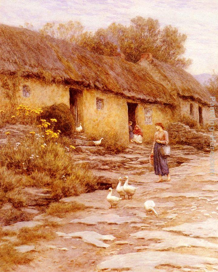 Helen Mary Elizabeth Allingham Irish Cottage Painting Anysize 50