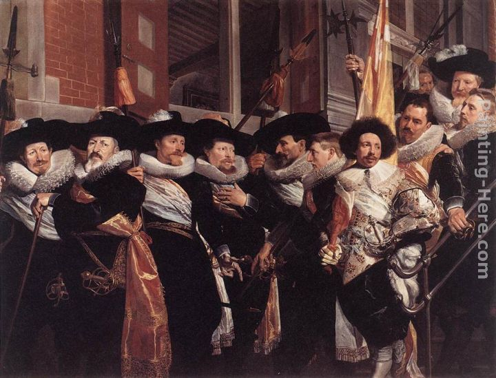 Officers of the Civic Guard of St Adrian painting - Hendrick Gerritsz Pot Officers of the Civic Guard of St Adrian art painting