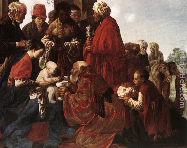 The Adoration of the Magi painting - Hendrick Terbrugghen The Adoration of the Magi art painting