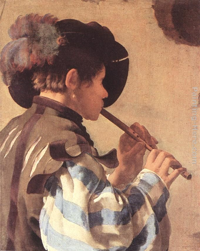 The Flute Player painting - Hendrick Terbrugghen The Flute Player art painting