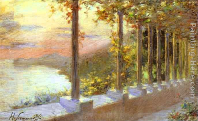 Henryk Hector Siemiradzki Italian Landscape Painting Anysize 50