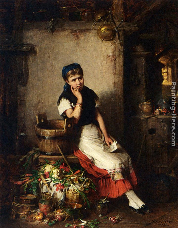 Hermann Kern The Love Letter painting anysize 50% off The Love