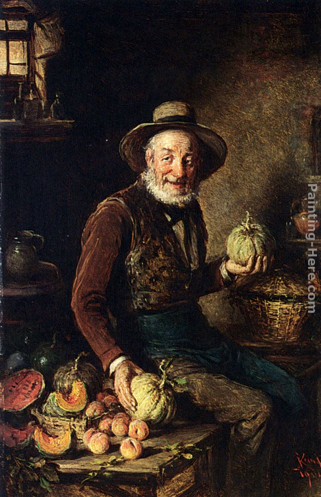 The Pumpkin Seller painting - Hermann Kern The Pumpkin Seller art painting