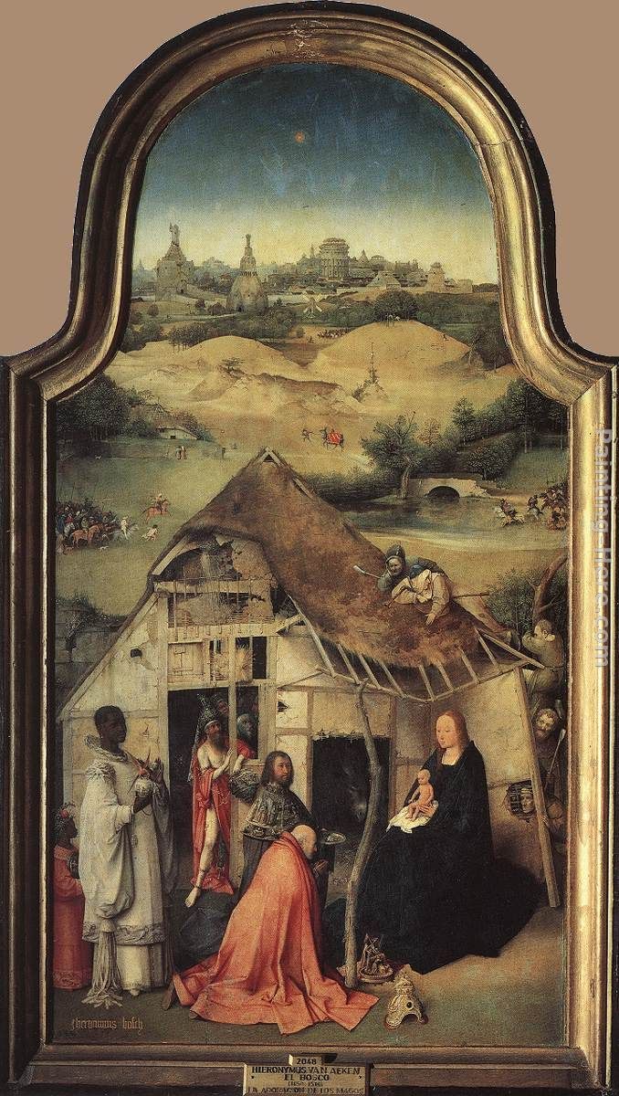 Adoration of the Magi painting - Hieronymus Bosch Adoration of the Magi art painting