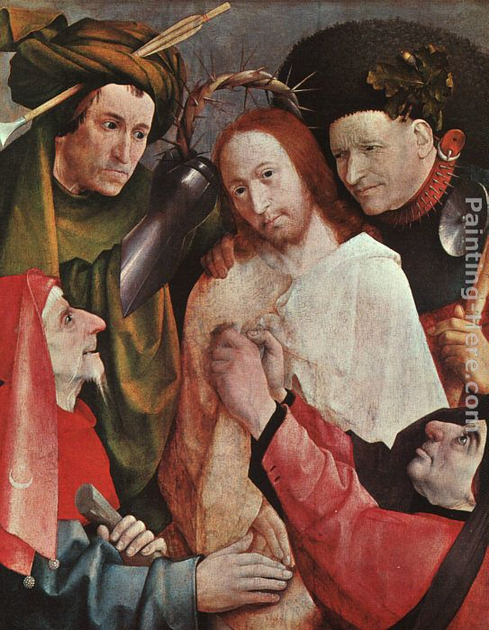Christ Mocked painting - Hieronymus Bosch Christ Mocked art painting