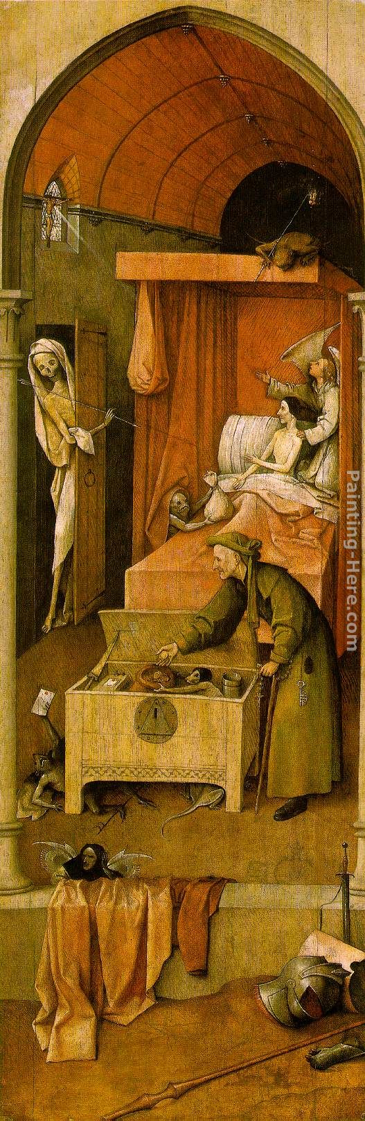Death and the Miser painting - Hieronymus Bosch Death and the Miser art painting