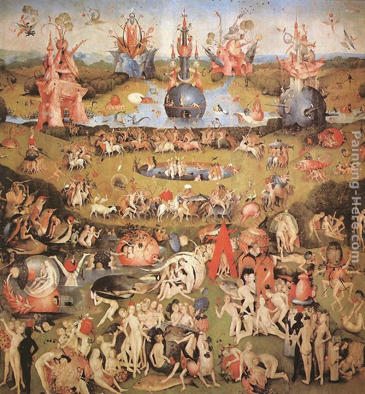 Garden Of Earthly Delights, Central Panel Of The Triptych Painting    Hieronymus Bosch Garden Of