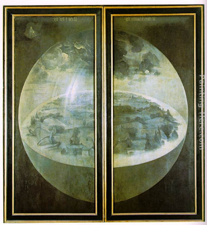 Hieronymus Bosch Garden of Earthly Delights, outer wings of the triptych  painting anysize 50% off , Garden of Earthly Delights, outer wings of the
