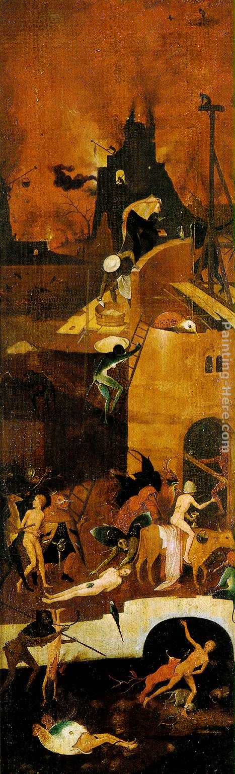 Haywain, right wing of the triptych painting - Hieronymus Bosch Haywain, right wing of the triptych art painting
