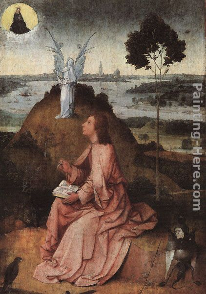 Hieronymus Bosch St. John on Patmos Art Painting