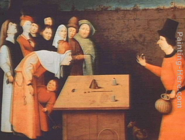 The Magician painting - Hieronymus Bosch The Magician art painting