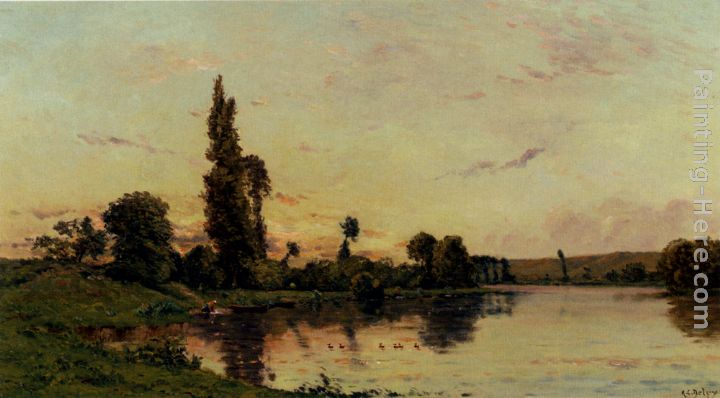 Hippolyte Camille Delpy Washerwomen On A Riverbank Art Painting