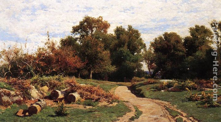A Country Path in Summer painting - Hugh Bolton Jones A Country Path in Summer art painting