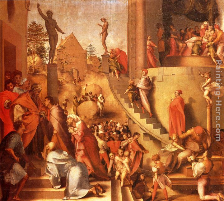 Joseph With Jacob In Egypt painting - Jacopo Pontormo Joseph With Jacob In Egypt art painting