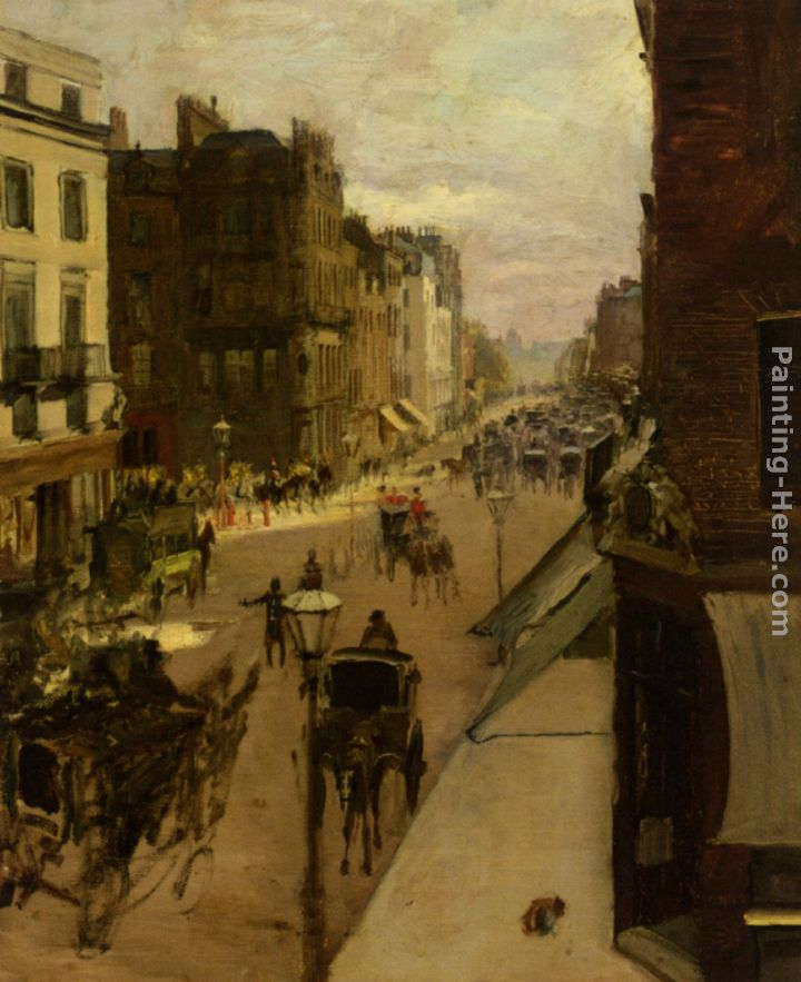 Jacques Emile Blanche A Street Scene In London Painting For Sale