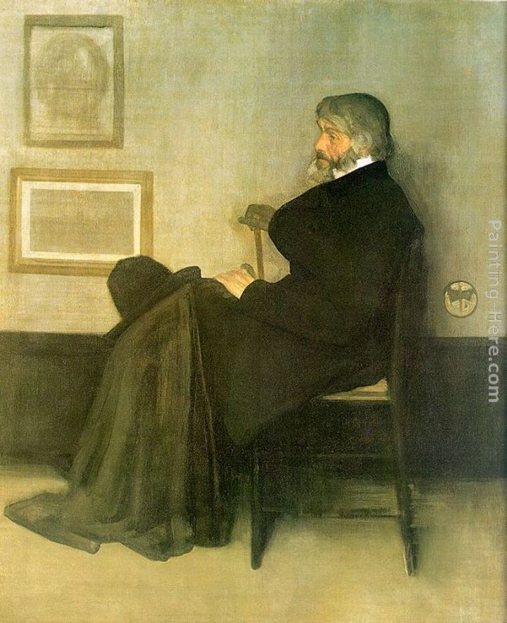 James Abbott McNeill Whistler Arrangement in Gray and Black No.2 Portrait of Thomas Carlyle Art Painting