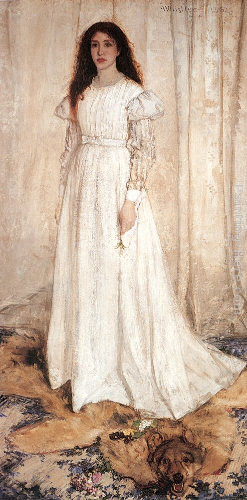 Symphony in White No. 1 The White Girl painting - James Abbott McNeill Whistler Symphony in White No. 1 The White Girl art painting