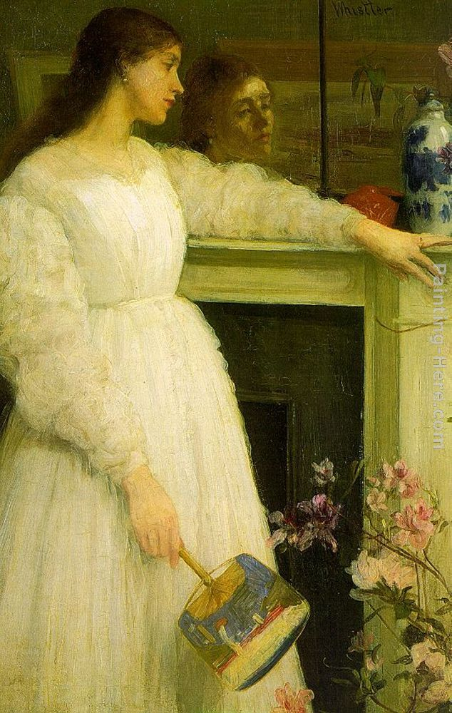 Symphony in White no.2 The Little White Girl painting - James Abbott McNeill Whistler Symphony in White no.2 The Little White Girl art painting