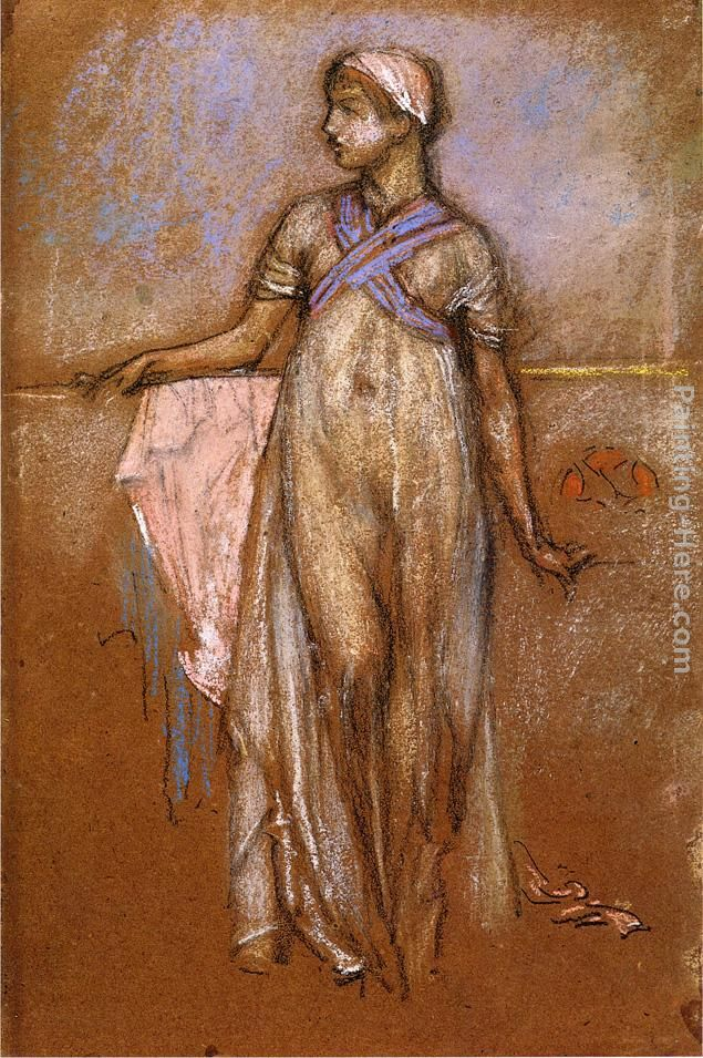 The Greek Slave Girl painting - James Abbott McNeill Whistler The Greek Slave Girl art painting