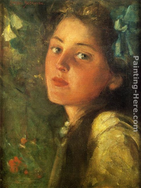 James Carroll Beckwith A Wistful Look Art Painting