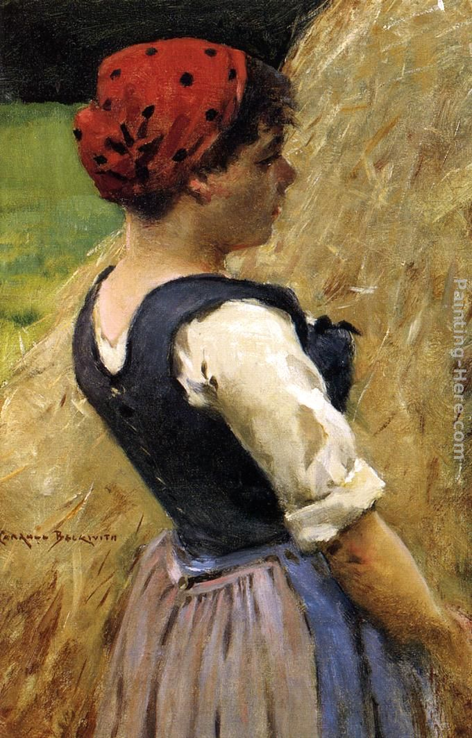 Normandy Girl painting - James Carroll Beckwith Normandy Girl art painting
