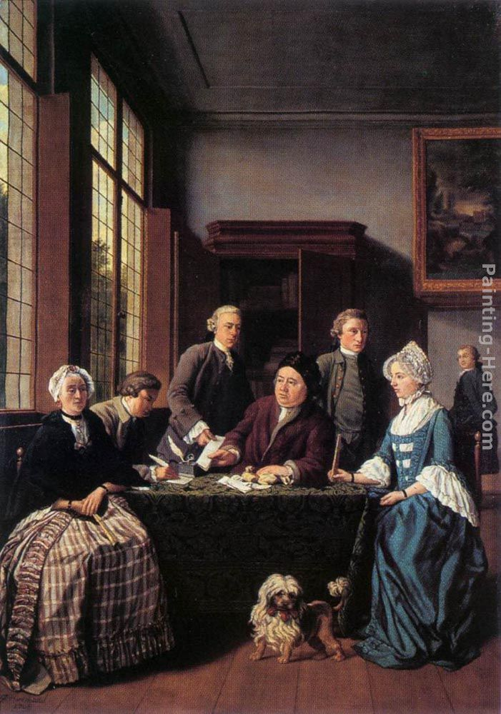 Jan jozef horemans ii the marriage contract painting for Artist mural contract