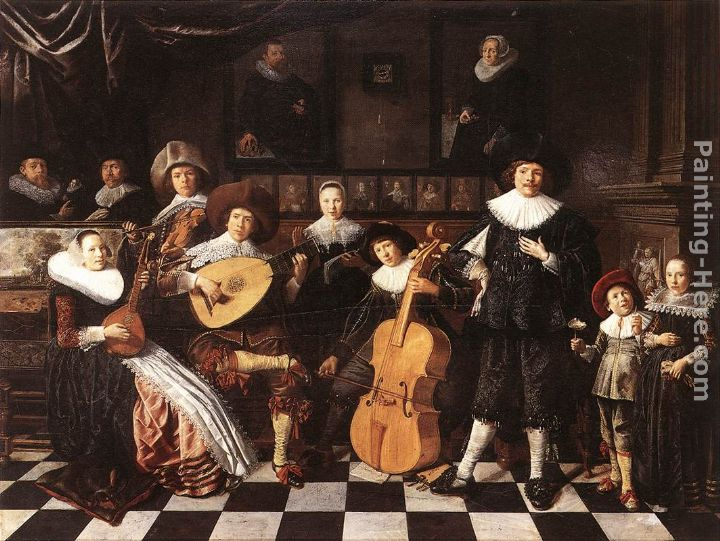 Jan Miense Molenaer Family Making Music Art Painting