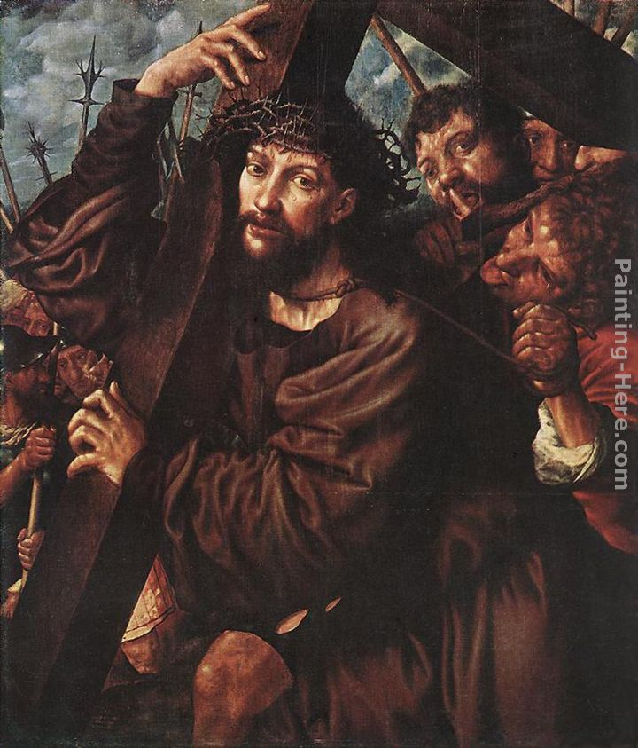 Christ Carrying the Cross painting - Jan Sanders van Hemessen Christ Carrying the Cross art painting