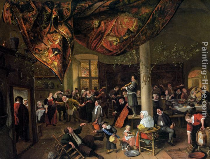 a village wedding painting jan steen a village wedding art painting