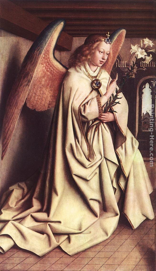 The Ghent Altarpiece  Angel of the Annunciation