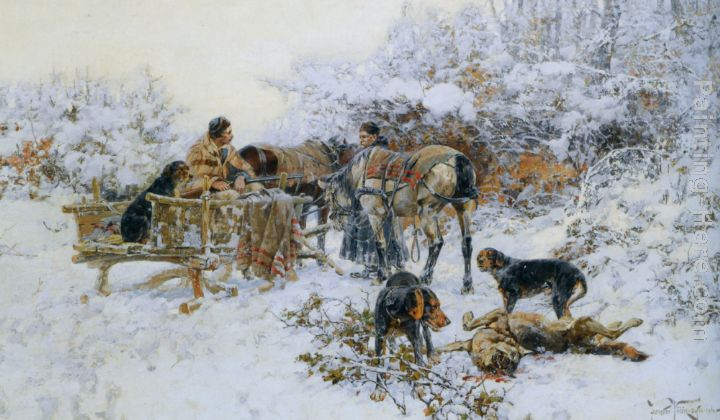 A winter hunt