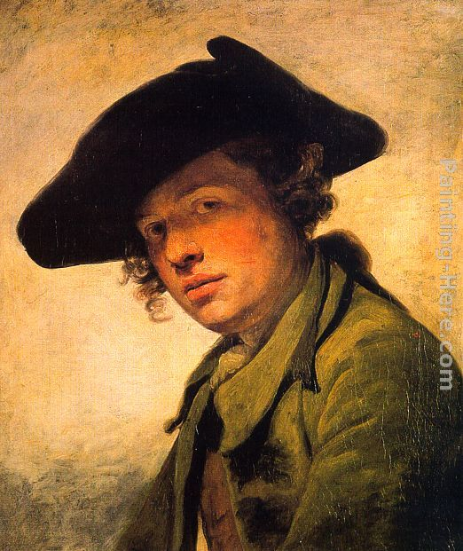 A Young Man in a Hat painting - Jean Baptiste Greuze A Young Man in a Hat art painting