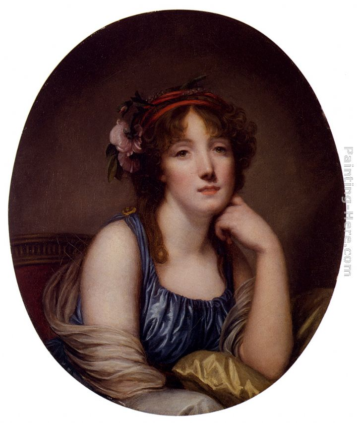 Portrait Of A Young Woman, Said To Be The Artist's Daughter painting - Jean Baptiste Greuze Portrait Of A Young Woman, Said To Be The Artist's Daughter art painting