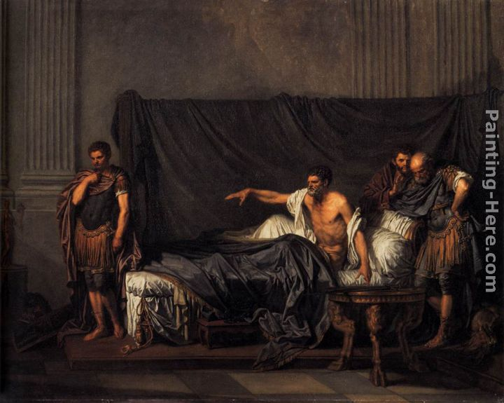 Septimius Severus and Caracalla painting - Jean Baptiste Greuze Septimius Severus and Caracalla art painting