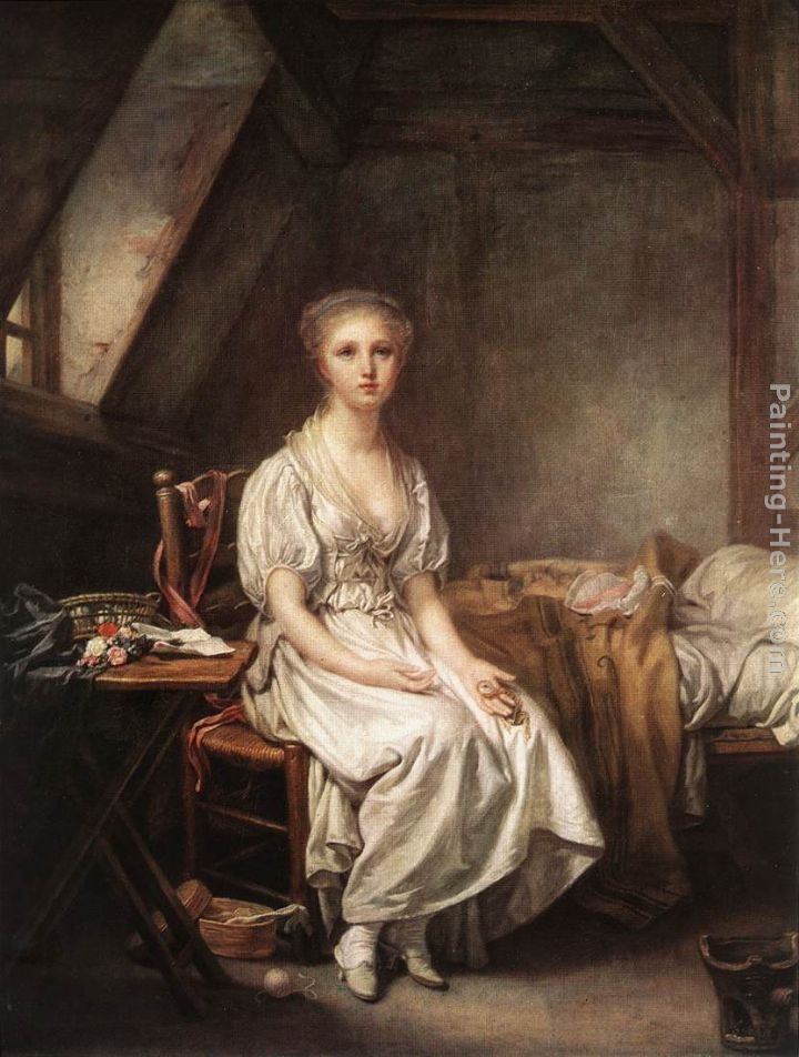 The Complain of the Watch painting - Jean Baptiste Greuze The Complain of the Watch art painting