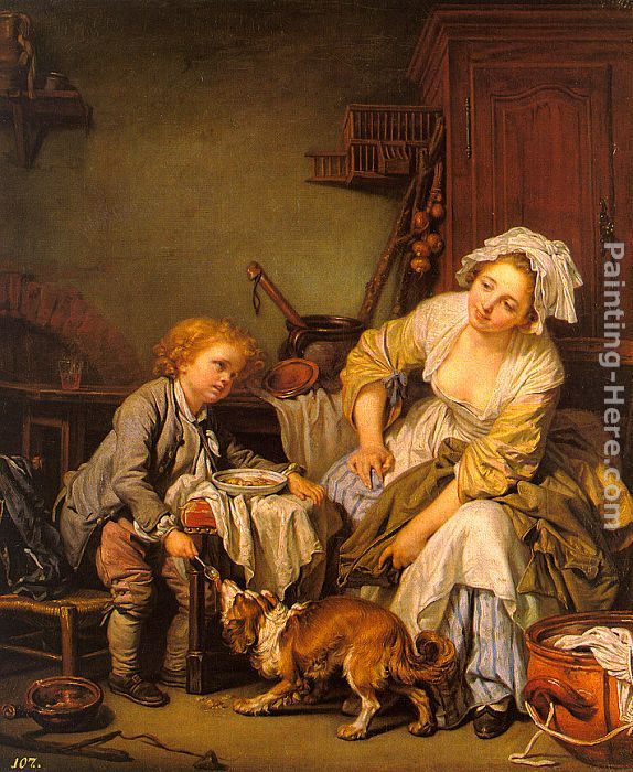 The Spoiled Child painting - Jean Baptiste Greuze The Spoiled Child art painting
