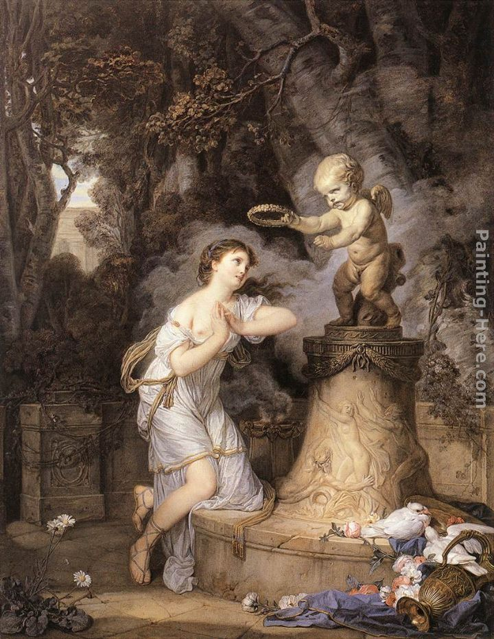 Votive Offering to Cupid painting - Jean Baptiste Greuze Votive Offering to Cupid art painting