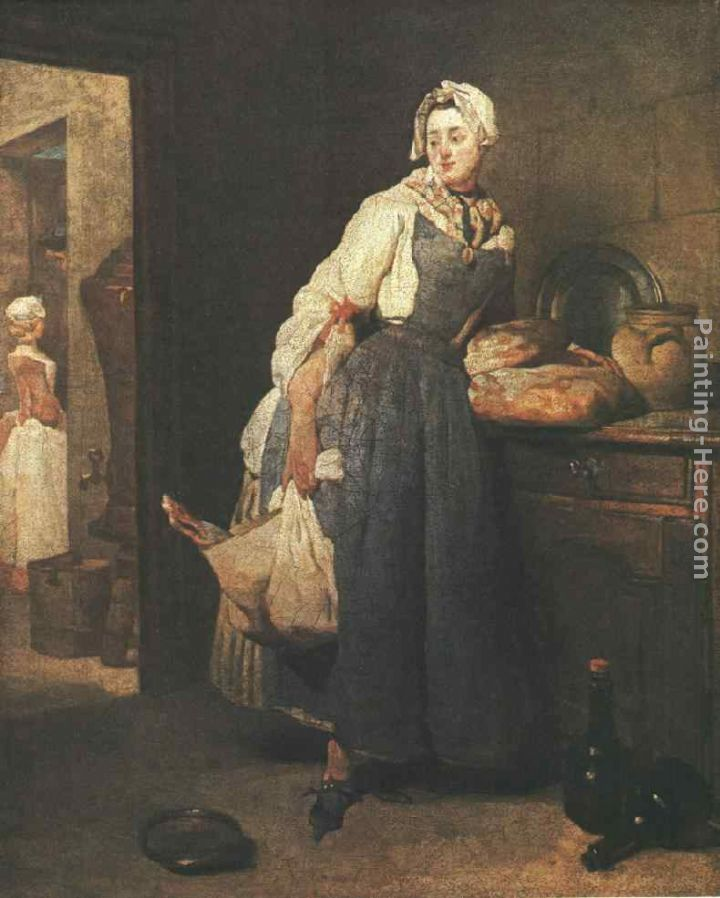 Return from the Market painting - Jean Baptiste Simeon Chardin Return from the Market art painting
